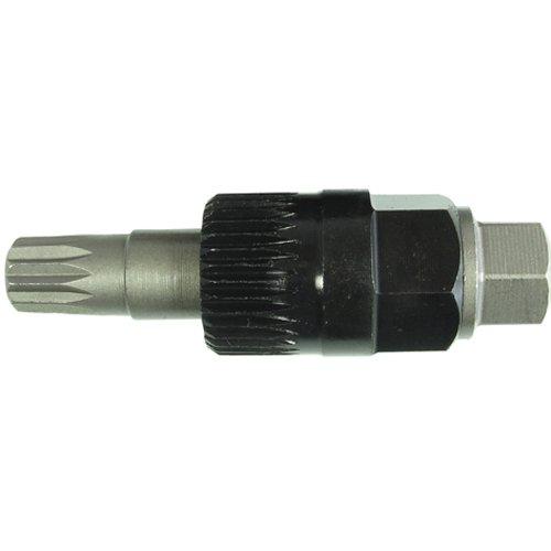 Extra Kurze Steckschlüsseleinsatz XZN M10 Vielzahn (Doppel-Sechskant/Doppel-6-kant) Nuss Montagewerkzeug Demontage Einsatz für BOSCH Lichtmaschine VAG Motoren mit 33-Zahn Einsatz