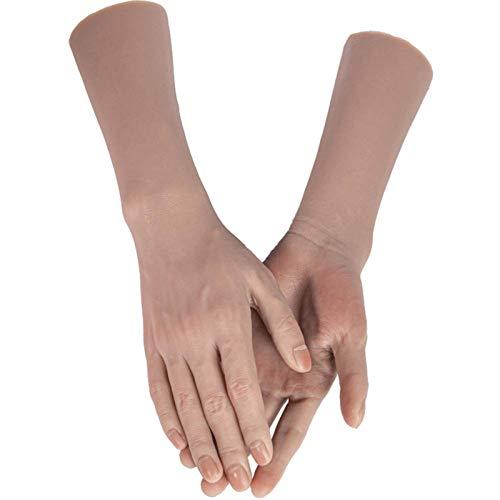 Modelo de anatomía, Modelo de la mano femenina de silicona, 1,1 simulación Mano falso Maniquí, flexible para pintar, enseñanza, joyería, manicura, arte, arte, accesorios, accesorios, ... para demostra