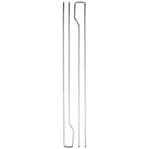 31QrG1Ly3ML - Bruzzzler Doppelspieße, Doppelgrillspieße, verwendbar als Schaschlikspieße, Garnelenspieße, Geflügelspieße und Grillspieße, Barbecue Doppelspieße, 8er Set Spieße, 39,5 x 9,5 x 4,5 cm