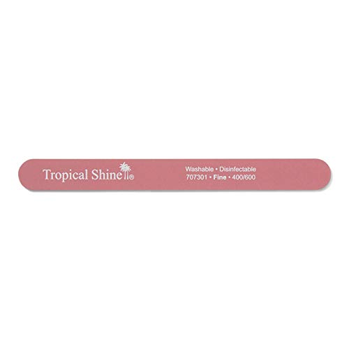 Tropical Shine Pink Cushion Nail File Fine 400/600 Pink