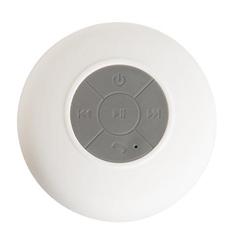 Croydex waterafstotende badkamer Bluetooth-luidspreker met geïntegreerde handsfree microfoon, wit