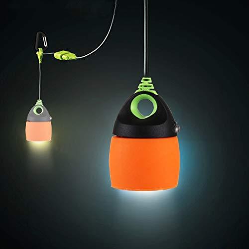 Solar Light Flood Lights Outdoor 0.5W 200 LM Mini Multifunction Outdoor LED Camping Light Emergency Light Tent Lamp Chainable USB Light, DC 5V (Color : Orange)