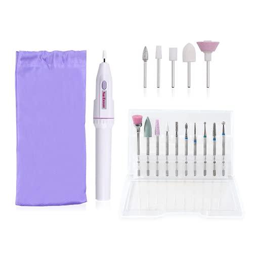 TOFBS Kit Professionale per Rimozione Smalti e Gel, lima per unghie elettrica professionale 11 in 1, Strumenti per manicure e pedicure,unghie in gel, strumenti per la lucidatura di manicure e pedicure