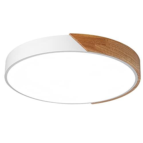 DCOC Luz de Techo LED Moderna de 24 W, luz empotrada de 12 Pulgadas, luz de Techo para Dormitorio, Cocina, baño, Pasillo, Sala de Estar, superbrillante 2000 lúmenes, luz Diurna Blanca 6000K