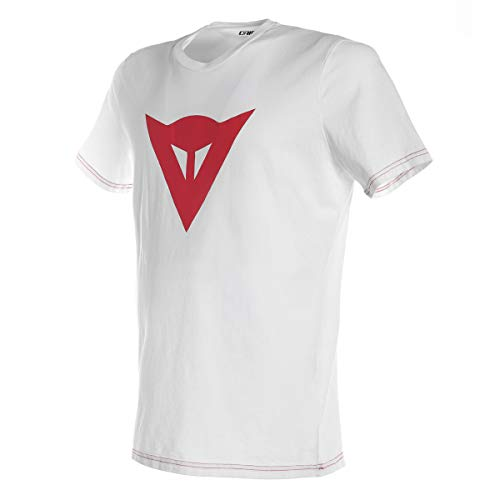 Dainese 1896742_602_L T-Shirt, Blanc/Rouge, Taille L