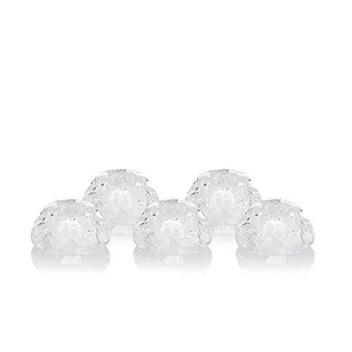 OF 5er Set Kerzenhalter aus Glas - Kerzenständer als funkelnder Diamant - Für Stabkerzen und Tafelkerzen