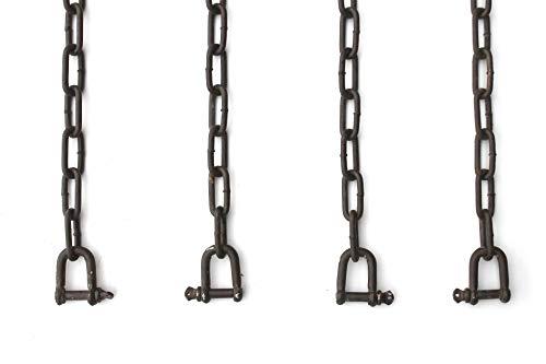 DanDiBo ketting, verlengketting, hangstoel, hangbank, 2 x 2 m, verzinkt, bruin, 300 kg, schakelketting, stalen ketting, schakels