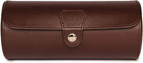 Limited Edition Chocolate Color - Veganer Leder-Organizer für Uhrenrollen von Case Elegance