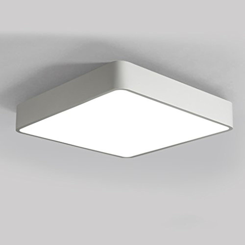 Moderne einfache LED weie Deckenleuchte, kreative quadratische Eisen Deckenleuchte, Wohnzimmer Schlafzimmer Korridor dekorative hngende Lichter ( Farbe   Weiß )