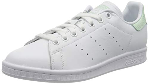 adidas Womens Stan Smith Sneaker, Footwear White/Dash Green/Core Black, 41 1/3 EU