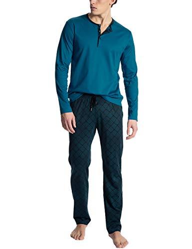 Calida Herren Casual Lounge Zweiteiliger Schlafanzug, Blau (Faience Blue 507), Small (Herstellergröße: S)