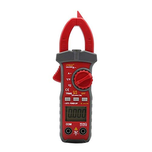 JHYS Multímetro de Rango automático, Digital UA220D Medidor de Pinza LCD Digital de Mano Multímetro Voltaje CC/CA Corriente CA/CC Resistencia Temperatura Frecuencia Trabajo preciso