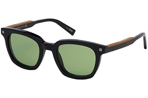 Ermenegildo Zegna EZ0118 - 01N Gafas de sol montura negra con lente verde de 50 mm