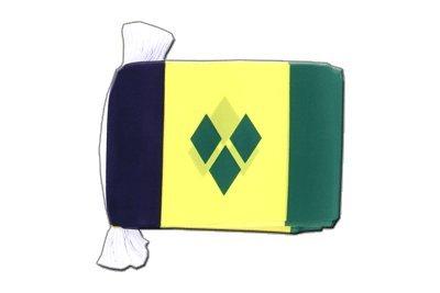 MaxFlags® guirlande de drapeaux Saint Vincent et les Grenadines 15x22cm