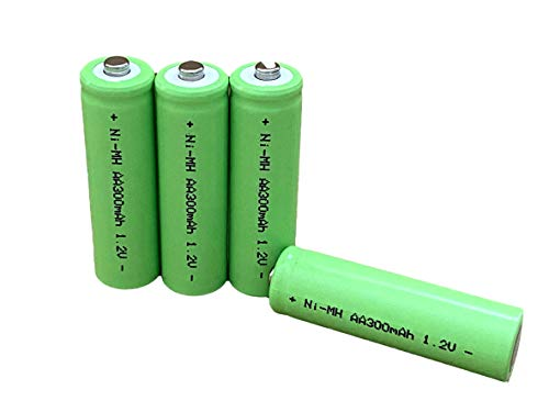 Dunamis 4pk AA Rechargeable Solar Light Batteries 1.2v NiMH AA 300mAh -...