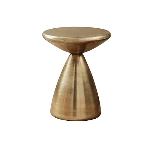 DYXYH Kleiner runder Tisch Wohnzimmer Beistelltisch Schlafzimmer Nachttisch Kleines Metall Eisen Kreatives Mobiles Sofa Kleiner Ecktisch (Color : A)