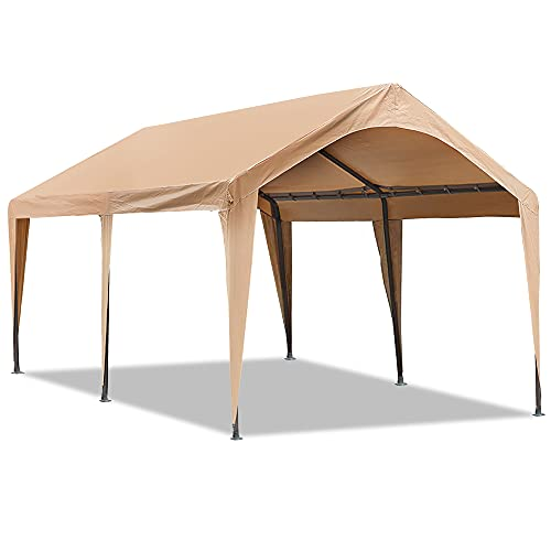 Abba Patio 10 x 20 ft Outdoor Carport Car Canopy Portable Garage Tent Boat Shelter