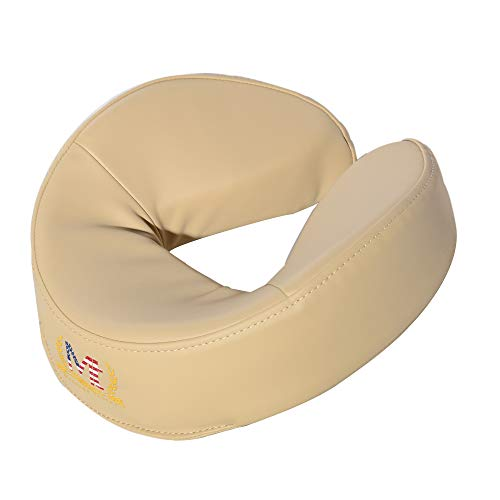 Master Massage LeafTalk Universal Face Cushion/Face Pillow for Massage Table America Brand World Number one (Cream)