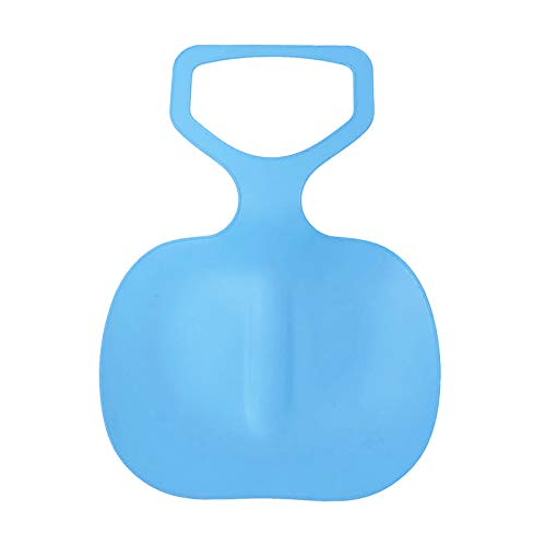 Trineo de plástico, 49 cm, tabla de nieve para exteriores, invierno, para niños y adultos, azul