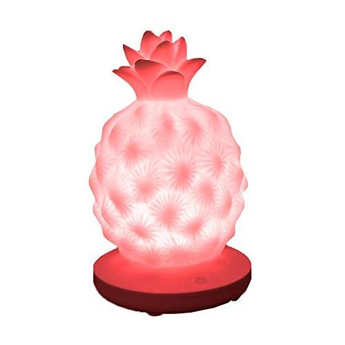 MAGICE LED Lampe De Chevet Créatif Ananas Lampes D'ambiance Lampes De Bureau Chargées par USB Veilleuse pour Enfants Atténuation Tactile en Trois Équipes Cadeau De Noel,Pink