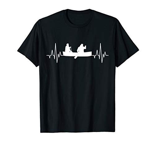 Kayak Kanu Kajak Paddeln Kayaker Herzschlag Rudern Kanuten T-Shirt