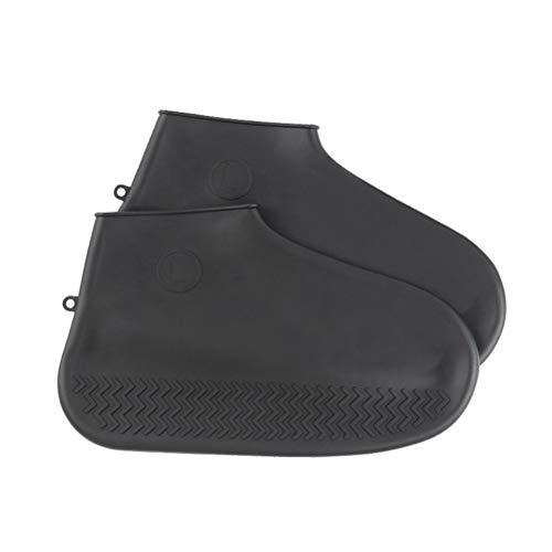 Hemoton 1 par de protectores de zapatos impermeables de silicona para exteriores, tamaño S, color negro