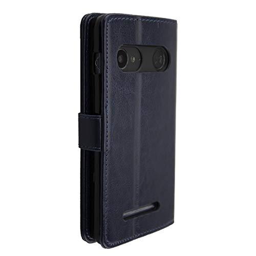 caseroxx Bookstyle-Case für Doro 8035 (mit & ohne Bildschirmschutzfolie) … (Bookstyle-Case, blau)