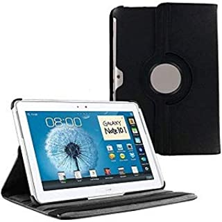 360 Degrees Rotating Stand Case Cover for Samsung Galaxy Note 10.1 inch Tablet N8000 COLOR BLACK