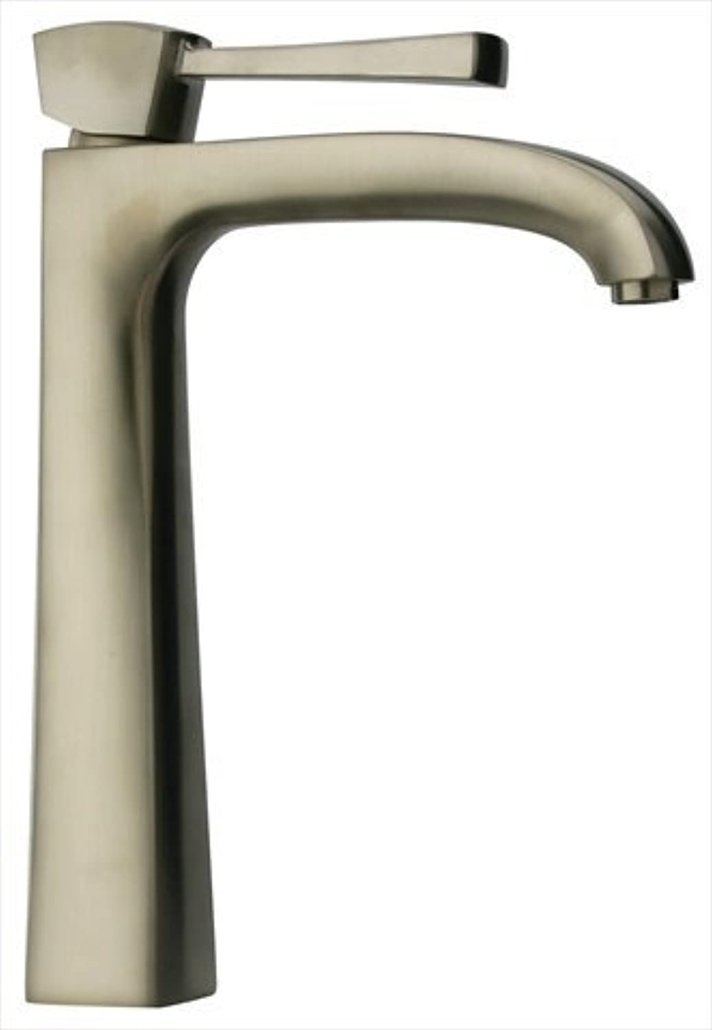 La Toscana 89PW211L Lady Tall Single Post Mount Lavatory Faucet with Pop-Up Drain, Brushed Nickel by La Toscana