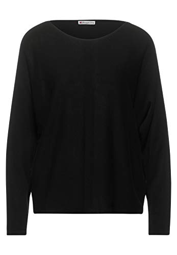 Street One Damen 301396 Style Noreen Pullover, Black, 38