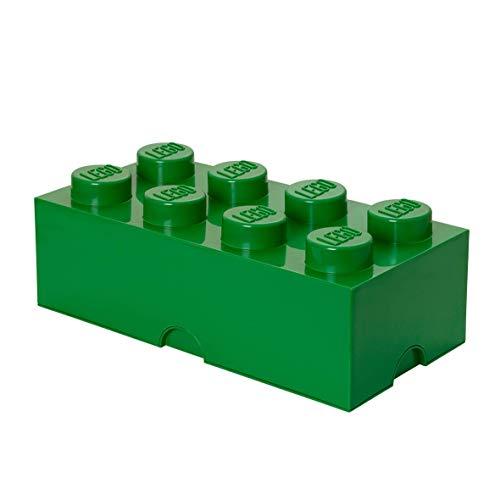 LEGO Aufbewahrungsstein, 8 Noppen, Stapelbare Aufbewahrungsbox, 12 l, grün