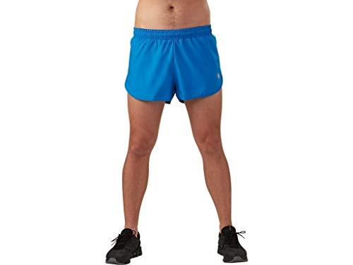 ASICS Split - Pantalón corto para hombre - MS3497, Pantalones cortos divididos, XL, Azul (Victoria Blue)