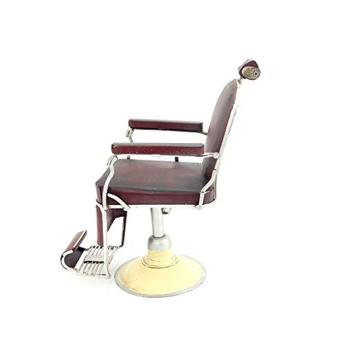 MIAOLIDP Ornamenti in Ferro - Cassa - Bar - Oggetti di Scena - Ferro Creativo - Sedia da Barbiere Modello Piccolo - Artigianato