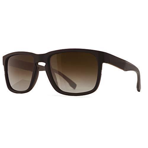 SUNGAIT Unisex Polarized Sunglasses Stylish Sun Glasses with Spring Hinges Brown Frame (Matte Finish)  Polarized Brown Gradient Lens A529 CKC