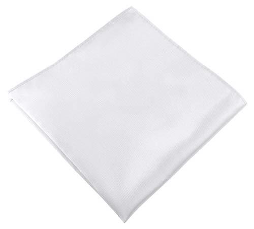 Helido Einstecktuch für Herren, 30 x 30 cm, Stoff-Taschentuch passend zu Anzug/Sakko – als Ergänzung zum Tuch eignen sich Fliege oder Krawatte (Weiß)