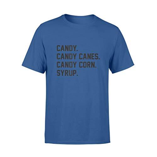 ShingoC Ltd Candy Canes Candy Corn Sirup Xmas T-Shirt Gr. 56, königsblau