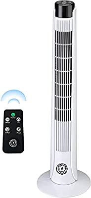 """Ecolighters 46"""" Premium Tower Fan with LED Display, 3 Speed and 1-7.5 Hour Timer- Remote Control - Cooling Tower Fan - Portable, Oscillating"""