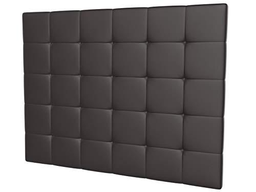 LA WEB DEL COLCHON - Cabecero tapizado Celio para Cama de 150 (160 x 120 cms) Chocolate