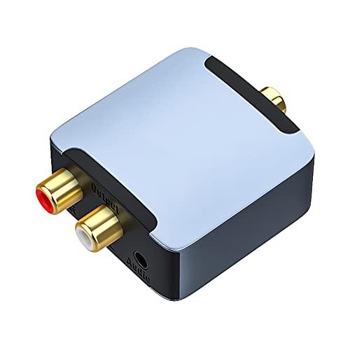Convertidor De Digital a Analógico, DAC Digital SPDIF Fibra a Analógico L/R RCA Convertidor De Fibra Toslink a Conector De 3,5 Mm Adaptador De Audio Amplificador Decodificación DAC Lotus 3.5