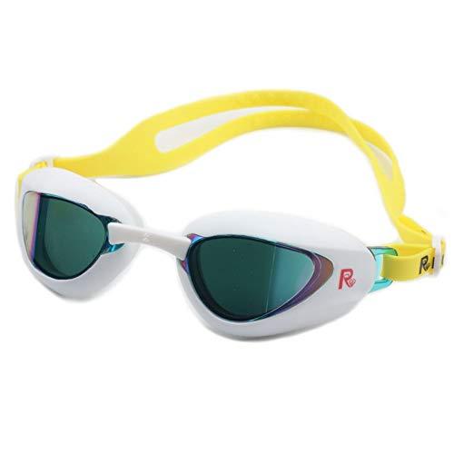 Zwembrillen | Zwembrillen voor Mannen Vrouwen Volwassenen - Beste Niet Lekken Anti-Fog UV Bescherming Clear Vision Kleur: wit