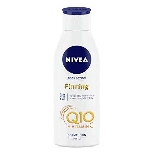 NIVEA Light Rassodante Lozione Corpo Q10 + Vitamina C (250 ml), Crema Nutriente Rassodante con Q10 e Vitamina C, NIVEA Crema Idratante Morbida per Pelle Rigida