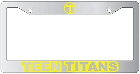 Teen Titans Bombing new work Chrome METAL Excellent License Auto Plate DC Frame