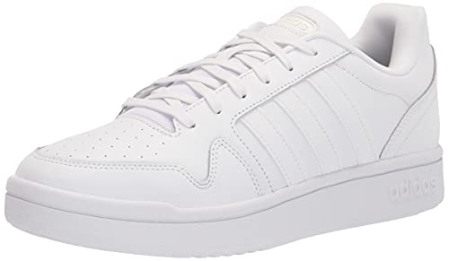 adidas Men's Post Up Basketball Shoe, White/White/Grey, 13
