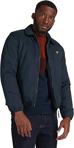 Men's Lyle And Scott Wadded Harrington Jacket in Navy Size XL