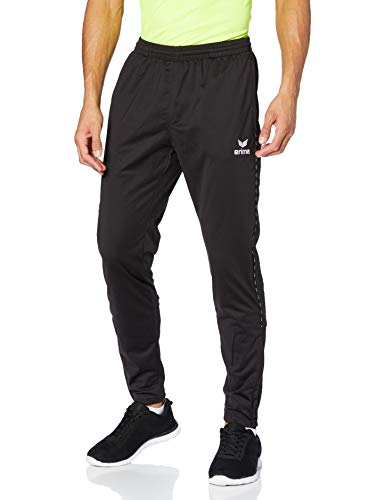 erima Herren Trainingshose Polyester mit Wadeneinsatz 2.0, schwarz, S, 3100706