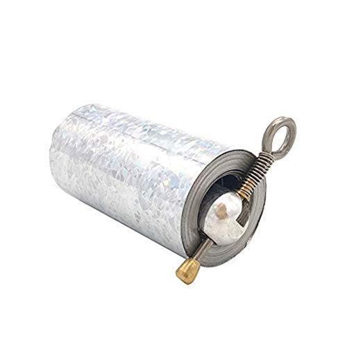 Auplew Bastone Tascabile, Bacchetta Magica Portatile Bacchetta Magica Bacchetta Magica Asta telescopica Bacchetta Magica in Metallo per Arti Marziali … (Argento)
