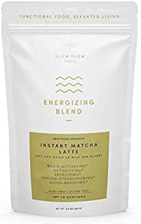 Sponsored Ad - Glow Flow Chefs Organic, Adaptogenic Instant Matcha Latte Mix for Stress-Relief, Energy and Focus, 15 servings