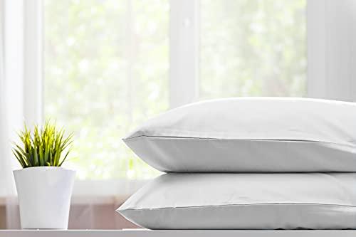 Burrito Blanco Funda de Almohada de Hostelería H11   100% Algodón   Funda de Almohada Cama 90   Color Blanco