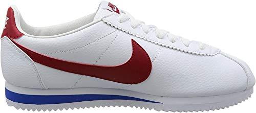 Nike Herren Classic Cortez Leather Laufschuhe, Weiß, 44 EU, Weiß (Weiß (weiß/varsity red-varsity royal)), 44 EU