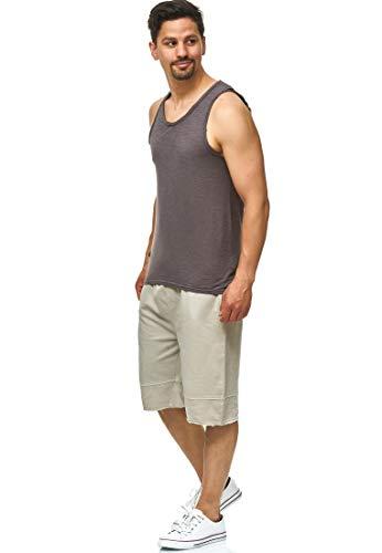 Indicode Heren Elgood Sweatshort met zakken, 100% katoen | Kort Broek Shorts Sportbroek zomerbroek joggingbroek Sweat Pants Washed effect trainingsshort Voor Mannen